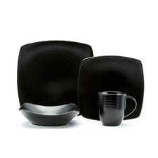 Vanilla Black Rice 16 Piece Dinnerware Set