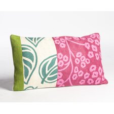 Crewel Floral Panel Embroidery Wool Throw Pillow