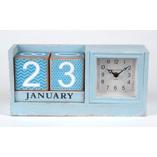 Wood Clock and External Calendar