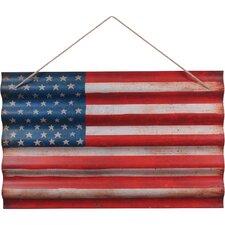 USA Flag Corrugated Wall Décor
