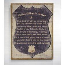 """Inspire Me"" ""A Police Officer's Prayer"" Framed Textual Art"