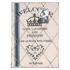 'Welcome' Wall Décor 1.83' x 1.5' Memo Board