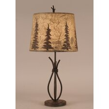 "Rustic Living Iron Stack 24"" H Table Lamp with Empire Shade"