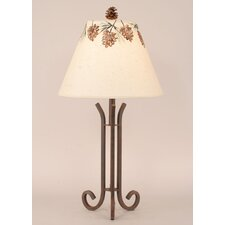 "Rustic Living Iron 28.5"" H Accent Table Lamp with Empire Shade"