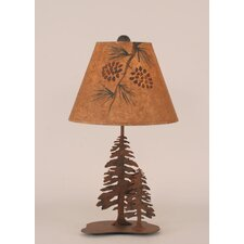 "Rustic Living Iron Pine Trees 21.5"" H Accent Table Lamp with Empire Shade"