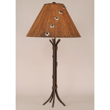 "Rustic Living Iron 32"" H Table Lamp with Empire Shade"