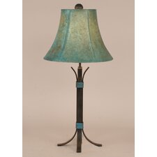 "Rustic Living Iron 25"" H Accent Table Lamp with Bell Shade"