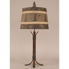 "Rustic Living 4-Leg Flat Bar 30"" H Table Lamp with Empire Shade"