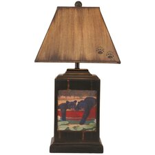 """Rustic Living Bead Board Pot 30"""" H Table Lamp with Empire Shade"""