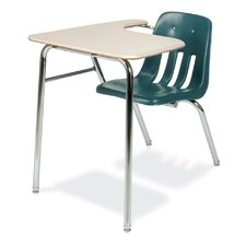 """9000 Series 30"""" Plastic Combo Chair Desk with Tablet Arm"""