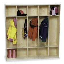 1 Tier 5-Section Double-Sided Locker