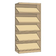 "Single-Faced Library Periodical 82"" Standard Bookcase"