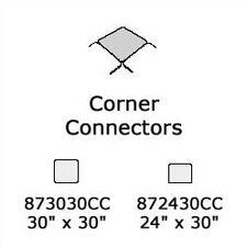 "8700 Series Corner Connector (30"" x 30"")"