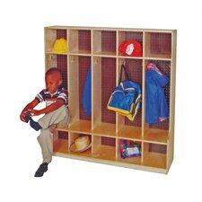 1 Tier 5-Section Seat Locker