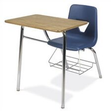 "2000 Series 31"" Plastic Combo Chair Desk with Bookrack"