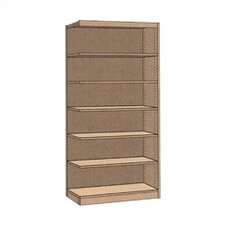 "Single-faced Library 82"" Standard Bookcase"