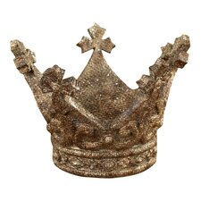 Chateau Glittered Antique Crown Sculpture