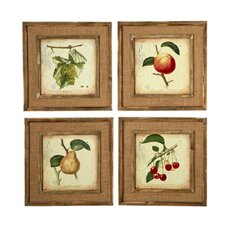 French Market Fruit 4 Piece Framed Graphic Art Set (Set of 4)