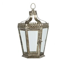 Chateau Metal and Glass Lantern