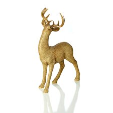 Georgian Holiday Resin Glittered Standing Deer