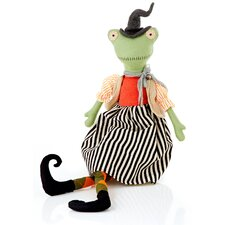 Halloween Cloth Frog Witch Doll Decoration
