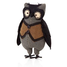 Halloween Cloth Standing Owl Figurine (Set of 3)