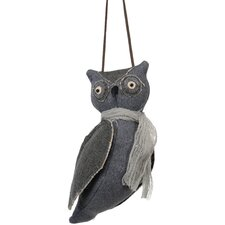 Halloween Cloth Hanging Owl Ornament (Set of 6)