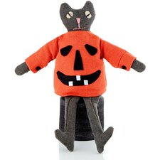 Halloween Cloth Cat Pump Shelf Sitter (Set of 2)