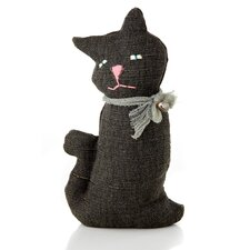 Halloween Cloth Sitting Cat Decoration (Set of 6)