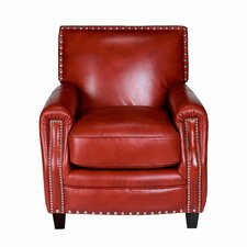 Madrid Leather Press Back Arm Chair