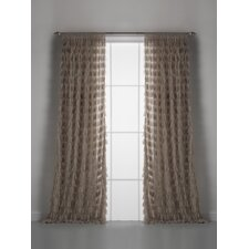 Chichi Solid Petal Rod Pocket Single Curtain Panel