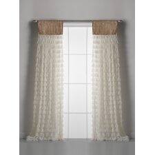 Chichi and Jute Header Single Curtain Panel