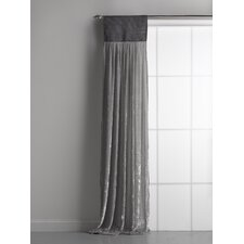 Luscious Silk Velvet Rod Pocket Single Curtain Panel