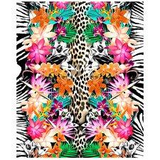 Animal and Flower Print Beach Towel
