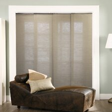 Double Rail Sliding Jute Vertical Blind