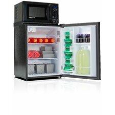 Safe Plug 2.3 cu. ft. Combination Mini Refrigerator and Microwave