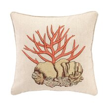 Stag Coral Linen Throw Pillow