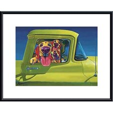 'I Wanna Go!' by Ron Burns Framed Graphic Art