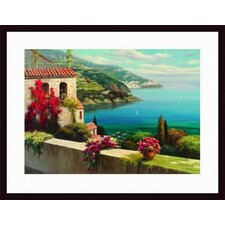 Blue Bay I by Rosa Chavez Framed Painting Print