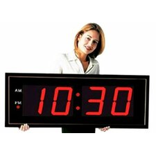 """Giant 8"""" Numbers LED Wall Clock with Remote Control"""