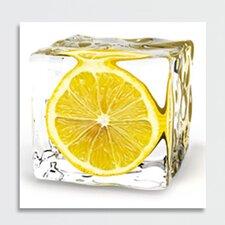 Deco Glass Iced Lemon Photographic Print