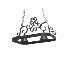 Hayley 2 Light Hanging Pot Rack