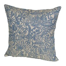 Outdoor Woven Fabric Tide Pool and Fish Stuffed Pillow