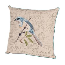 Bird Watchers Embroidered Throw Pillow