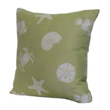 Key West Shells Stuffed Throw Pillow