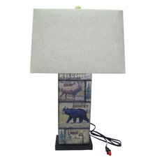 """28"""" H Table Lamp with Rectangular Shade"""