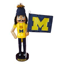 "12"" Michigan Mascot and Flag Nutcracker by Santa's Workshop"
