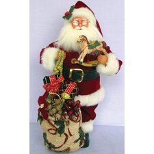 Traditional Santa with Horse Figurine