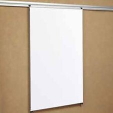 Tactics Plus® Track Writing Wall Mounted Magnetic Whiteboard, 4' x 3'