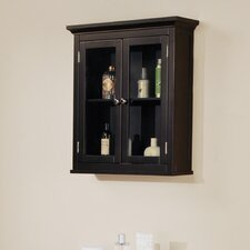 Madison Avenue Dark Wall Cabinet with Two Doors